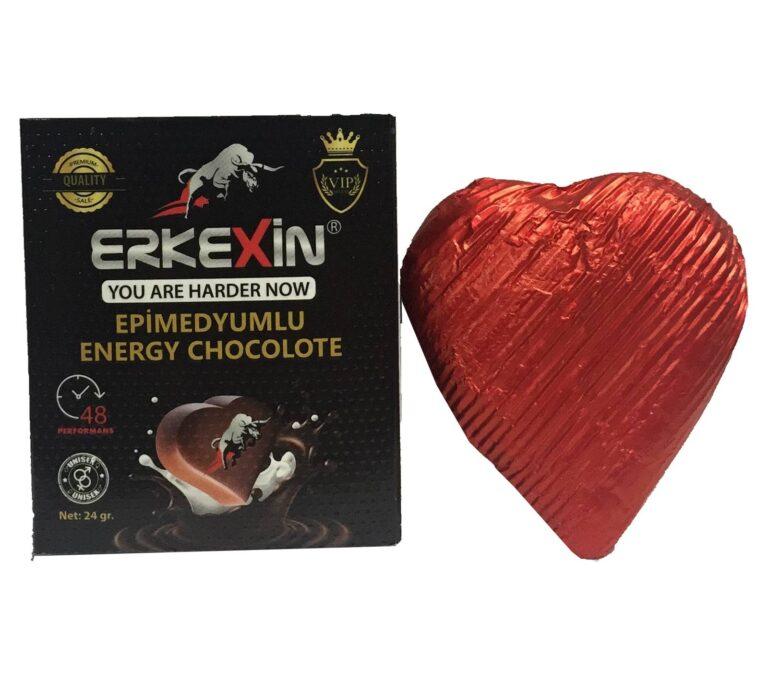 Erkexin Chocolate 24 Gr unisex ile güç sende son zamanların en çok tercih edilen afrodizyak çikolatası Erkexin Chocolate 24 Gr